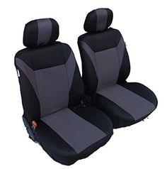 1 UNIVERSAL GREY BLACK FRONT SEAT COVERS FOR VAUXHALL Z Sprinter ConversionCargo VanBlack
