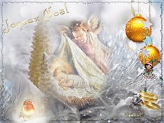 Baby Jesus and angel Baby Jesus, Belle Photo, Christmas Bulbs, Glitter, Holiday Decor, Painting, Noel, Merry Little Christmas, Other