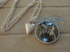 Cobalt glass pendant necklace