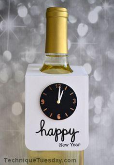 Happy New Year Bottle Hanger