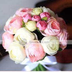 Special Floral Roses Silk Flowers Bridal Wedding Bouquet