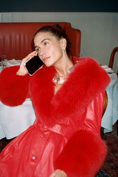 Saks Potts is a Copenhagen-based womenswear brand, established by Barbara Potts and Cathrine Saks. Acne Studios, Saks Potts, Fur Trim Coat, Cute Coats, Vogue, Aesthetic Clothes, Types Of Fashion Styles, Fashion Outfits, Fashion Trends