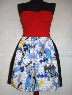 Plus Size Batman Mini Skirt with Large by sweetcheeksstitches