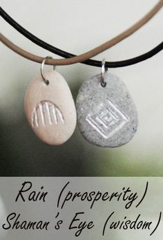 Native American symbols, Indian signs, crafts, jewelry, culture - engraved stone pendants Rain - prosperity and Shaman's Eye - wisdom; Indian Symbols, Native American Symbols, Symbols Of Strength, Ceramic Design, Lamp Design, Stone Pendants, South Africa, Nativity, Etsy Seller