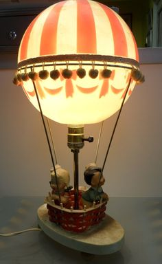 Vintage Hot Air Balloon Dolly Toy Company Lamp $75