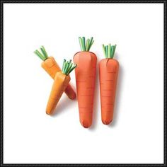 Vegetable Papercraft - Carrot Free Template Download