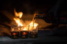 strong alcohol on the background of the campfire by nof-x  IFTTT 500px