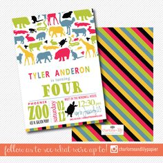 Looking for a wildly cute kids birthday party invitation? Search no further! Our…