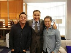 Ant and Dec with David walliams at Britain's got talent