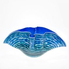 "Mark Wagar ""reflection wave"" bowl, 8 3/4""X19 1/2"""