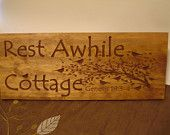 Cottage Cabin Lake House Lodge Signs Carved Wooden Welcome Sign bird tree branch design Welcome Signs Mothers Day Benchmark Signs & Gifts