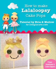 Step-by-step instructions on how to make Lalaloopsy Cake Pops! @LivingLocurto.com #cakepops