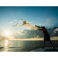 @journeysouthoutfitters are casting a wide net in Louisiana to catch bait fish.