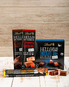 Anniversary Gifts and Flowers for Her: Hello You Lindt Chocolate Hamper !