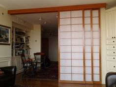 Sliding room divider shoji screens (shown open). | Yelp