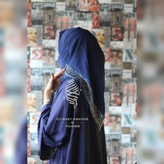 Blue abaya with stones Material : Nida Rate : 2900 Model Photographer Blue Abaya, Abayas, Hijabs, Stones, Classy, Inspirational, Hot, Model, Instagram