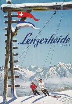 Poster by Arnold Bosshard / Lenzerheide, Switzerland / 1944