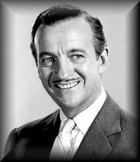 David Niven - Sandhurst graduate and Lt. Colonel of the British Commandos in Normandy.