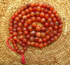 Antique Carnelian and Agate Beads by lostcitiesbeads on Etsy