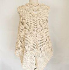 Mercerized shawl..Cotton shawl..Ecru Shawl by asuhan on Etsy, $75.00