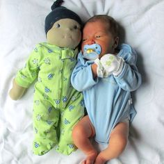 Baby and his doll, love this!