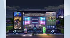 Ultima Mega Mall I Retail I 50x40 I by sueladysims | Sims 4 Gallery | It's huge! Did I mention it's huge? 8 #stores are ready to be run by 8 sims! Basement: #movietheater, 1st #bakery with manufacture #bookstore #internet #fashionstore 2nd #gym #furniturestore #flowerstore  3rd #spa #artstore #toystore  4th #lounge #bbq #electronics #lights & #appliances. Play #chess or biblock, get entertained, tell ghost stories, mingle in hot tube while late night shopping. All ur desires will be…