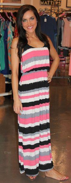 Dottie Couture Boutique - Racerback Maxi Dress, $49.00 (http://www.dottiecouture.com/racerback-maxi-dres/)