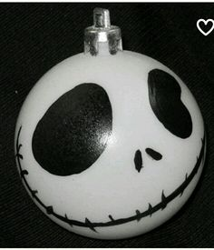 Jack ornament. Clear glass ball filed with baking soda.