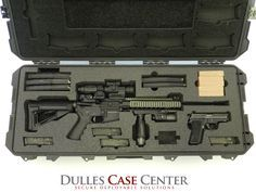 Custom Gun Case...a Storm 3100 case with custom foam for a CMMG AR15 and a Sig Sauer P229