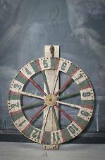 Old Vintage Wooden Carnival Game Wheel. Primitive, Folk Art, Gambling, Fair, USA