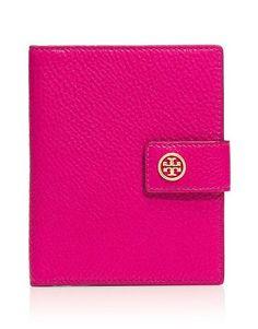 Tory Burch Robinson Pebbled Passport Case