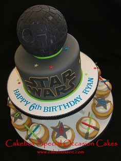 Yes, my inner Star Wars nerd gets excited about a cake meant for a six-year-old boy.