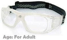de3910a393b Prescription Sports Goggles BL019 Clear   White 140mm Frame Width Suitable  for Adults Sports Glasses