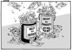 """24 May 2013 - """"an even more United Kingdom"""" - money floods in for both help the heroes and deporting all jihadists."""
