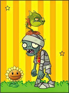 Plants vs Zombies: Free Printable Cards or Invitations. Monkey Invitations, Free Printable Birthday Invitations, Free Printable Cards, Zombie Birthday Parties, 5th Birthday Party Ideas, Zombie Party, 8th Birthday, Plants Vs Zombies Personajes, Zombies Vs