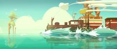 FISHING TRAIN  Directed by : Vincent Gibaud : Director, Concept Art, Background Design, Story Board , Layout, Animatique // Kevin Phou : Animation 2D/3D/Fx, Layout Animation // Alizée Laffitau : Animation 2D/Fx, Chara-Design, Layout Animation // Maimiti Chave : Compositing, Concept Art // Luca Strano : Modeling 3D // Camille Gomes : Chara-Design // Alexandre Monge : Animation 2D/3D // Maxime Gridelet : Animation2D/Fx // Yann Leroy : Compositing  // Musique : Benjamin Gex-Fabry