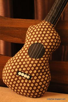 DIY Ukulele Pillow---add 2 more strings and it could be a guitar!