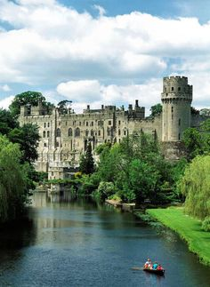 Warwick Castle is one of the best preserved castles in England.