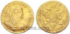 1 червонец 1739 года  Материал чеканки монеты: Золото(Au) Вес монеты: 3,48 г Гурт: гладкий Редкость по каталогу Биткина: (R2) Состояние данного экземпляра: VF(VeryFine) Стоимость монеты 1 червонец 1739 года:   25500 CHF Стоимость монеты по металлу составляет 10106 р по ценам на 26.01.2016