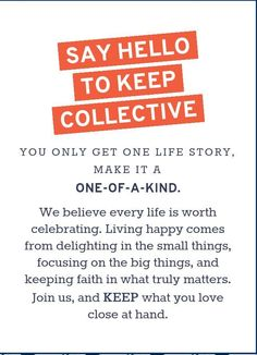 KEEP Collective | KEEP what you love close to your heart! | www.keep-collective.com/with/cathyream