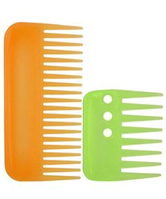 Wide toothed comb- best for us curly hair gals!! :) Helps reduce breakage and separates the curls.