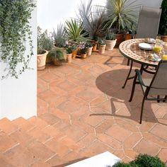 Bradstone Tile Paving Mellow Terracotta Diamond and Square