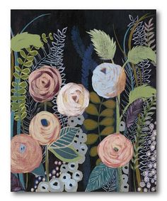Look what I found on #zulily! Diverging Blooms Wrapped Canvas #zulilyfinds