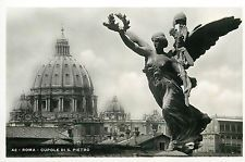Italy 1930s Real Photo Postcard Roma Rome - Cupole di S. Pietro
