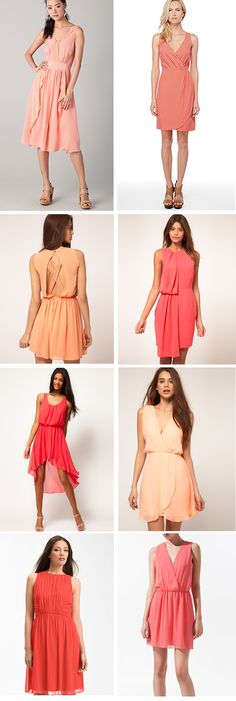 Peach Bridesmaid Dresses, i like the two on the top