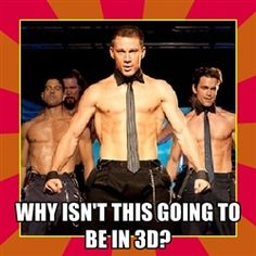 magic mike movie  - Why isn't this going to be in 3d?
