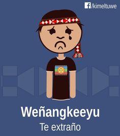 Weñangkeeyu = Te extraño Educacion Intercultural, Africa, Language, Words, Drawings, Fictional Characters, Faeries, Block Prints, Tatoo