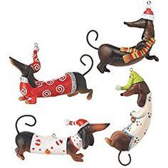 dachshund christmas ornaments set of 4 dachshund dog daschund dachshund gifts