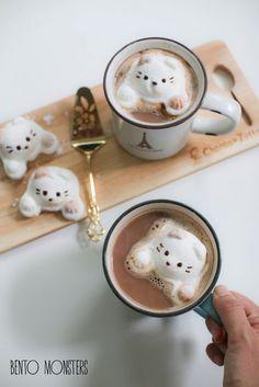 (1) Cat Marshmallows. | Cute food | Pinterest