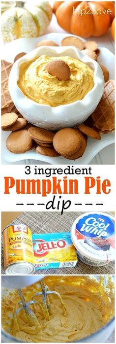 If you're looking for an outstanding and easy to throw together dip perfect for Fall gatherings, check out this awesome pumpkin pie dip that calls for just three main ingredients! If you only make one pumpkin spice recipe this year, this should be it! This fluffy, creamy and perfectly sweet dip makes a delicious snack and/or dessert.